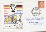 On offer is an original flown first day cover to celebrate Real Madrid V Borussia Monchengladbach in Europe 1976, issued in March 1976.