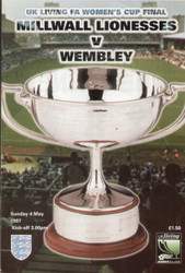 On offer is an original official programme for the 1997 Womens FA Cup Final Milwall Lionesses V Wembleyd, the game was played on 4 May 1997.