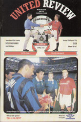 On offer is an original Official programme for the friendly match Manchester United V Internazionale (Inter Milan) played on 13 August 1996 at Old Trafford.