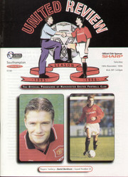 original Official programme for the Premier League match Manchester United V Southampton, the game was played on 18 November 1995.