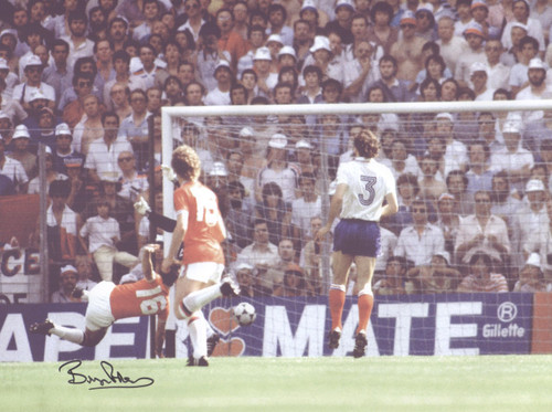 June 16th 1982, Estadio San Mames Bilbao, Bryan Robson scores England's opening goal in the 1982 World Cup Finals against France after just 27 seconds - the then quickest goal in World Cup history.