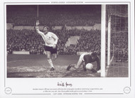 Tottenham Hotspur's Cliff Jones turns away in celebration after scoring against Manchester United during a League Division 1 game at White Hart Lane, 1968. Alan Gilzean grabbed another goal, in an entertaining 2-2 draw.