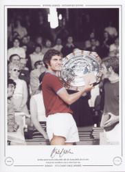 Burnley captain Martin Dobson holds aloft the Charity Shield after victory over Manchester City at Maine road in 1973.
