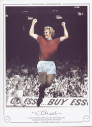 Burnley's Colin Waldron celebrates after scoring the winning goal against Manchester City in the Charity Shield at Maine road in 1973.
