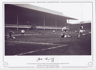 FA Cup quarter-final 1964, West Ham V Burnley at Upton Park, John Connelly dodges a tackle from West Ham's Jack Burkett to score his team's first goal past Jim Standen.
