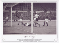John Connelly (no. 7) scores England's first goal against Sweden, during an autumn friendly International at Wembley Stadium in 1959. Sweden took the honours by 3 golas to 2 in an exciting encounter.