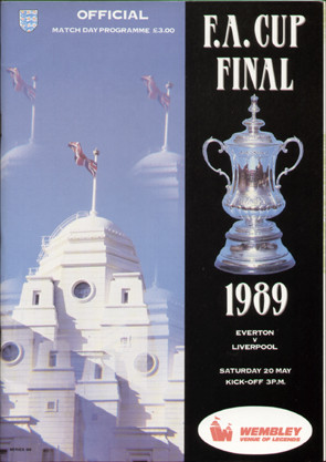 original Official 1989 FA Cup Final programme. The game, Everton V Liverpool was played on 20th May 1989 at Wembley Stadium.