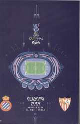 original Official 2007 UEFA Cup Final programme. The game, Espanyol V Sevilla FC was played on 16th May 2007 at Hampden Park, Glasgow.