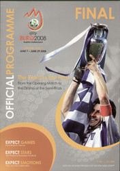 original Official EURO 2008 Final programme. Germany V Spain.