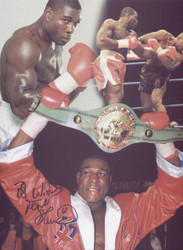 Great signed montage of Frank Bruno, with various mages from his career.