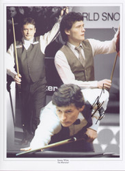 Superb Handsigned Montage showing Snooker legend Jimmy White.