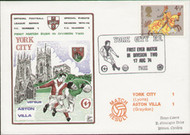 original first day cover to celebrate York City's first ever game in division 2, issued in August 1974. Complete with original filler card.