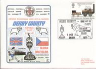 original first day cover to celebrate Derby County in Europe 1975, issued in October 1975. Complete with original filler card, envelope sealed.