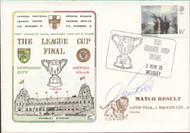original first day cover to celebrate the 1975 League Cup Final Norwich City V Aston Villa, issued in March 1975. The cover has been signed by the former Villa Captain Ian Ross and is a limited edition of just 250.