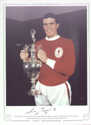 Liverpool captain Ron Yeats, poses with the League Championship trophy as Liverpool are crowned 1963/64 Division 1 Champions. Liverpool claimed the title by 4 points from their nearest rivals Manchester United.