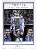 In his first year as manager, Jose Mourinho led Chelsea to their first league title in fifty years. The team only lost one game and conceded just 15 goals, the lowest ever by a top flight team. Their total of 95 points set a Premiership record.