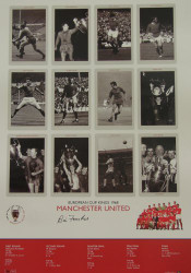 Superb handsigned Cup Kings series limited edition. The picture contains 12 pen pictures, one of each member of the victorious Manchester United side, including their then manager, Sir Matt Busby. The legend contains full details of each round.
