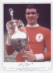 Liverpool captain Ron Yeats, poses with the League Championship trophy as Liverpool are crowned 1965/66 Division 1 Champions. Liverpool claimed the title by 6 points from their nearest rivals Leeds United.