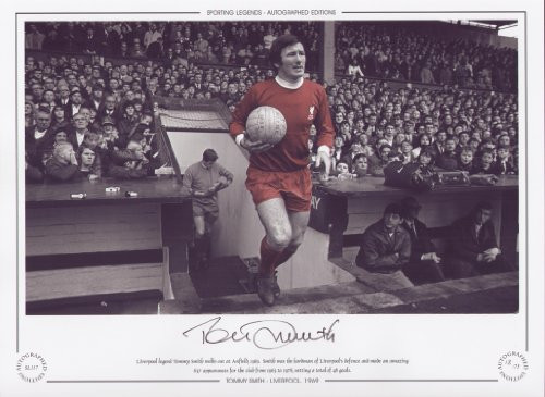 Liverpool legend Tommy Smith walks out a Anfield, 1969. Smith was the hardman of Liverpool's defence and made an amazing 637 appearances for the club from 1963 to 1978, netting 48 goals.