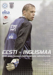 original Official programme for the Euro 2008 qualifier Estonia V England, the game was played on 6 June 2007 in Tallinn.