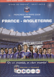 original Official programme for the friendly international match France V England, the game was played on 26 March 2008 in the Stade De France.