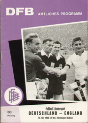 original Official programme for the international match Germany V England played on 12 May 1965 in Nurenberg.