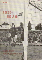 original Official programme for the international match Norway V England played on 29 June 1966.