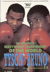 original TV Souvenir boxing programme for the World Heavyweight title Mike Tyson V Frank Bruno held on 25 February 1989.