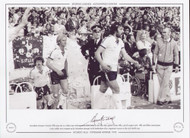 Tottenham Hotspur's Ricardo Villa steps out to a ticker-tape welcome on his home debut for his new club, against Aston Villa on 23 August 1978. Villa and fellow countryman Ossie Ardiles were snapped up by Tottenham manager Keith Burkinshaw after Argentina's success at the 1978 world Cup.