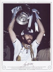 1981 FA Cup Final match winner Ricardo Villa holds aloft the cup, after victory over Manchester City. Villa scored what many believe to be the greatest FA Cup Final goal of all time, to give Tottenham a 3-2 victory in a pulsating replay victory.