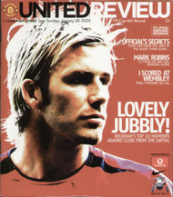 original Official programme for the FA Cup 4th round match Manchester United V West Ham United played on 26 January 2003 at Old Trafford.