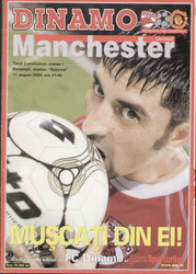 original Official programme for the Champions League match Dinamo Bucharest V Manchester United played on 11 August 2004.