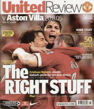 original Official programme for the Premier League match Manchester United V Aston Villa played on 20 August 2005 at Old Trafford.