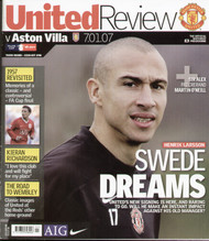 original Official programme for the FA Cup 3rd round match Manchester United V Aston Villa played on 7 January 2007 at Old Trafford.