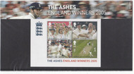 2005 Cricket, The Ashes, England Winners Presentation Pack PP348 (printed no. M12). Issued by the Royal Mail on 6th October 2005