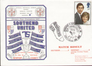 original first day cover for Southend's 75th Centenary year and Division IV Champions, issued in September 1981. Complete with filler card.