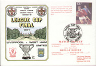 original first day cover to celebrate The League Cup Final 1981, Liverpool V West Ham United, issued in March 1981. Complete with filler card.