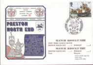 original first day cover to celebrate Preston North End's Centenary. Issued October 1981. Complete with filler card.