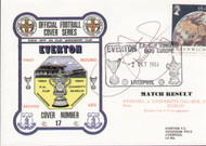 original first day cover to celebrate Everton V UC Dublin in the Cup Winners Cup, issued in October 1984. Complete with original filler card. The cover has been signed by Graeme Sharp.