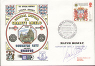 original first day cover to celebrate The FA Charity Shield 1987, Everton V Coventry, issued in August 1987. The cover has been signed by Everton legend Adrian Heath.