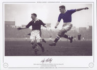 Roy Bentley in action Chelsea V Manchester City 1955
