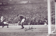 Manchester United's Alex Stepney in action against Real Madrid in the European Cup Semi Final in 1968.