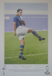 Superb limited edition of John Charles by renowned artist Gary Brandham. The picture is a limited edition and has been signed by both John Charles and the artist. Great addition to any collection.