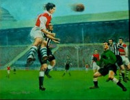 On offer is a limited edition print by renowned artist Brian West showing Arsenal V Newcastle United, FA Cup Final at Wembley in 1952.