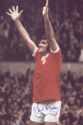 Ian Storey-Moore was playing in Scunthorpe  when he was discovered by a Nottingham Forest scout. Later in life, he also became a scout for Forest.  In 1972, Storey-Moore was introduced by Brian Clough, then manager of Derby County as a new player, with a fee of £225,000 reportedly agreed. However, he instead opted to sign for Manchester United.  In 1974, he retired due to injury. He had scored 12 goals for United.  Storey-Moore represented England once, in a game against the Netherlands in 1970.