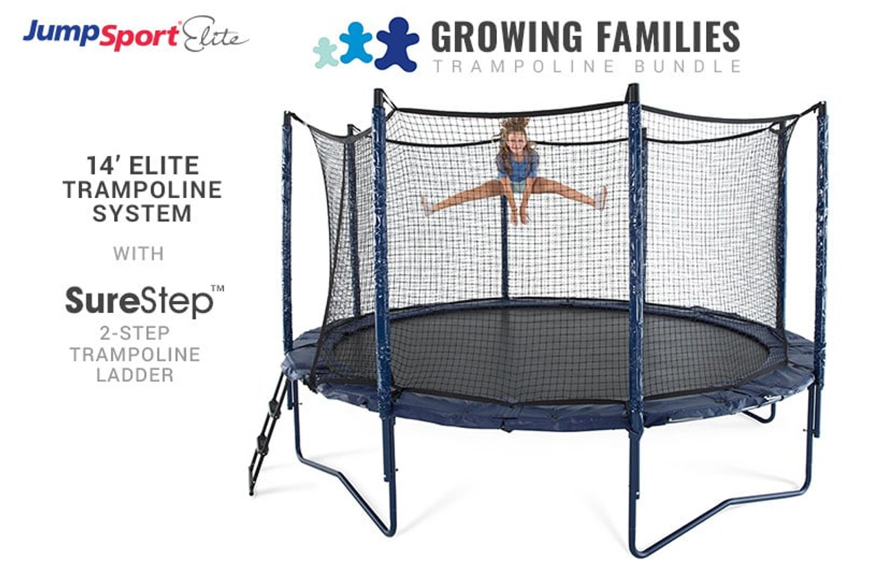 Elite 14 Trampoline Amp Ladder Bundle Jumpsport Com