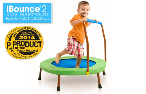 JumpSport iBounce® 2 Kids Trampoline. Easy to Fold up and Go.