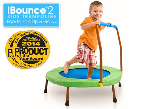 JumpSport iBounce 2 Kids Trampoline. Easy to Fold up and Go.