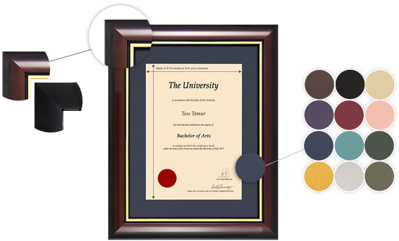 University Frames UK | Professional Degree Certificate Framing
