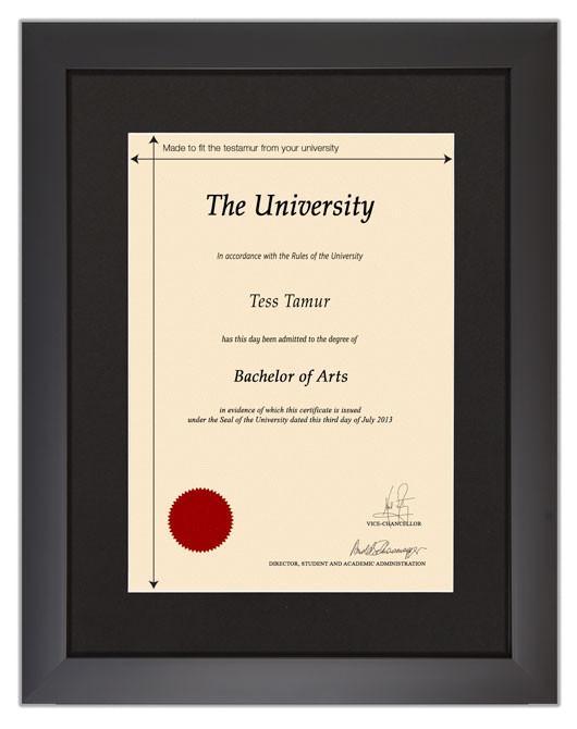 Frame for degrees from City University | University Degree ...